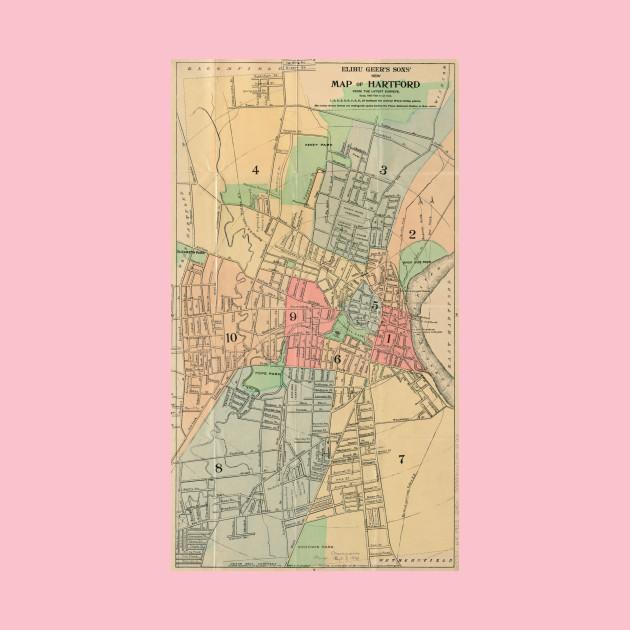 Vintage Map of Hartford Connecticut (1903) - Hartford Ct Map - T ...