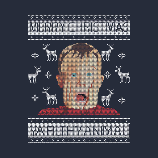 Christmas Home Alone Filthy Animals Knit