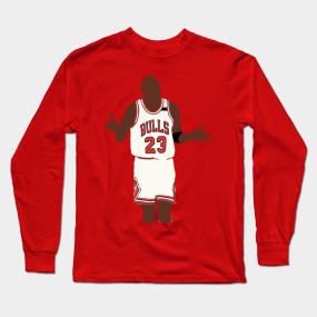 49e2d47e30cfee Michael Jordan Shoulder Shrug Long Sleeve T-Shirt
