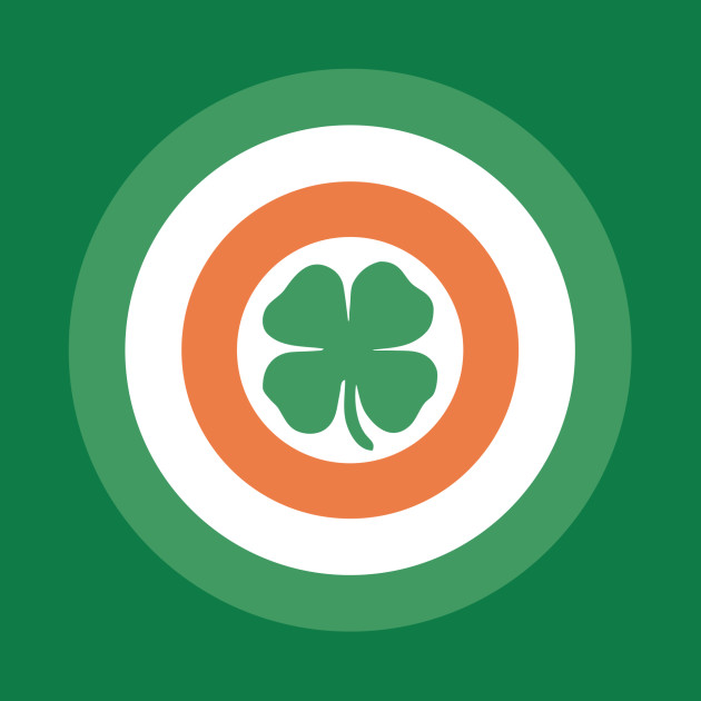 Captain Ireland Shield (in the style of Captain America)