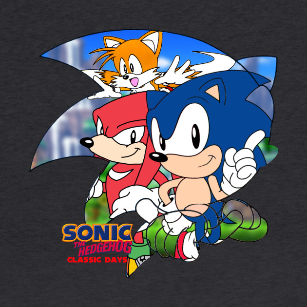 Sonic The Hedgehog Classic Days Grapic Sonic The Hedgehog Classic Days Hoodie Teepublic