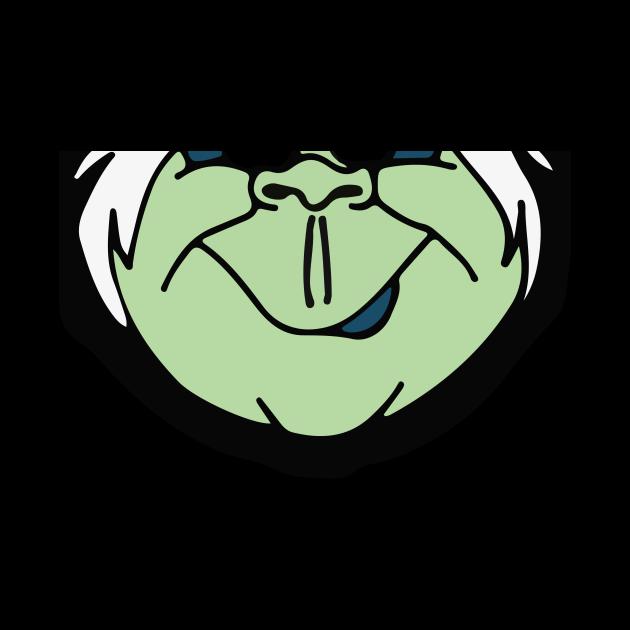 Ezra Grinning Character Element Mask