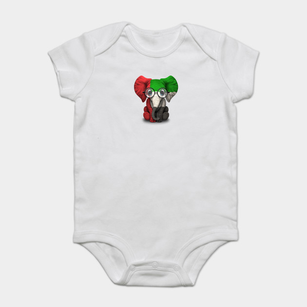 Baby Elephant with Glasses and UAE Flag