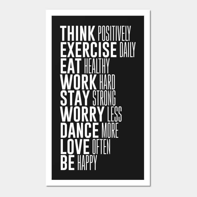 Think Positively Exercise Daily Eat Motivational T-Shirt