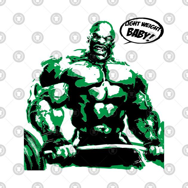 Bodybuilder Pumping