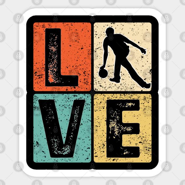 Retro Bowling Bowler Love Gift