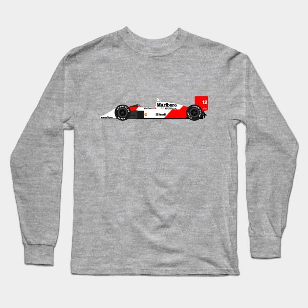 mclaren mp4/4 f1 ayrton senna - formula one - long sleeve t-shirt