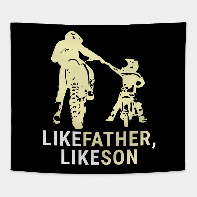 Dirt Biker Riders Motorcycle Bikers FMX Motocross Father And Son Motorbike Gifts ...