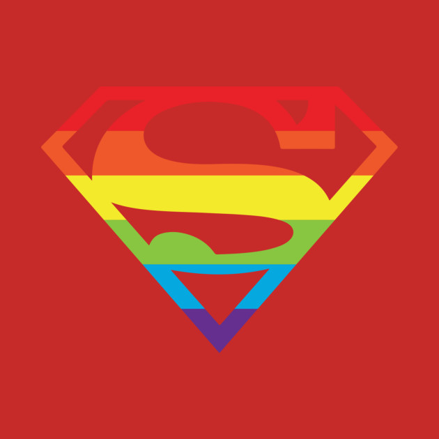 Superman Gay Pride Logo Superman Logo TShirt TeePublic