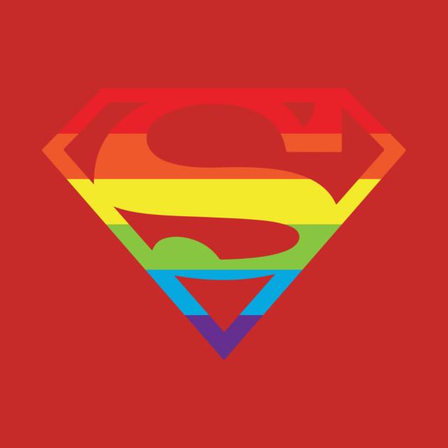 Superman gay pride logo superman logo t shirt teepublic 341522 1 voltagebd Choice Image