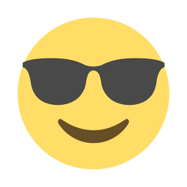 cool face with glasses emoji
