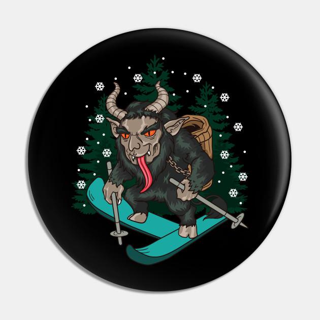 Krampus Skiing Christmas