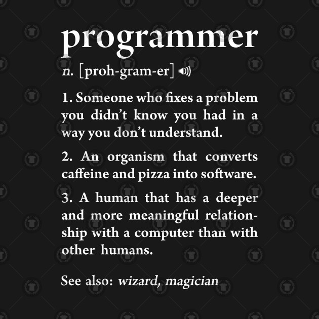 Programmer definition funny meaning software developers for T shirt design programs for pc
