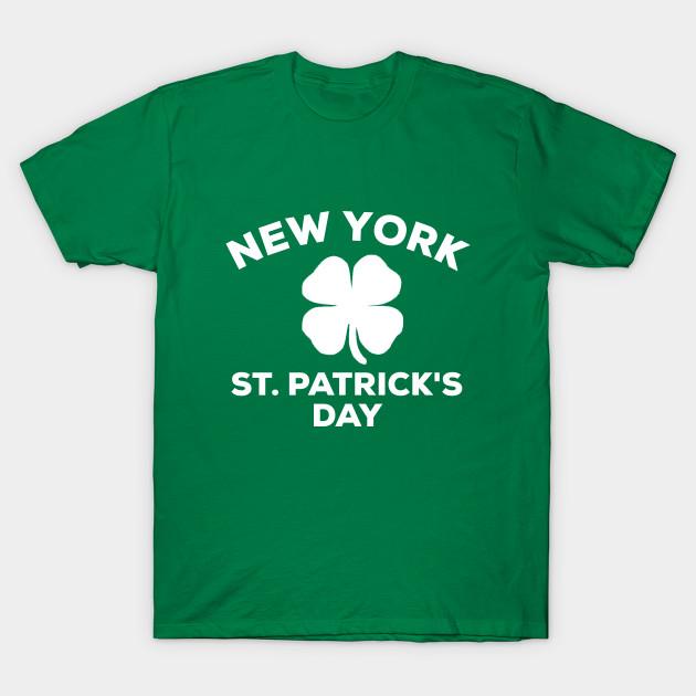 13d7f4ad8 New York St. Patrick's Day 2019 Shirt Shamrock Clover Family Gift Idea T- Shirt