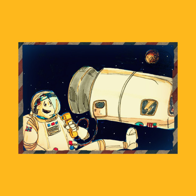 Cold Coffee Sheep postcard from space