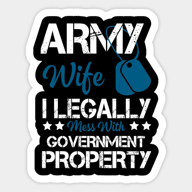 Cool Costume For Army Wife Gift Ideas Sticker