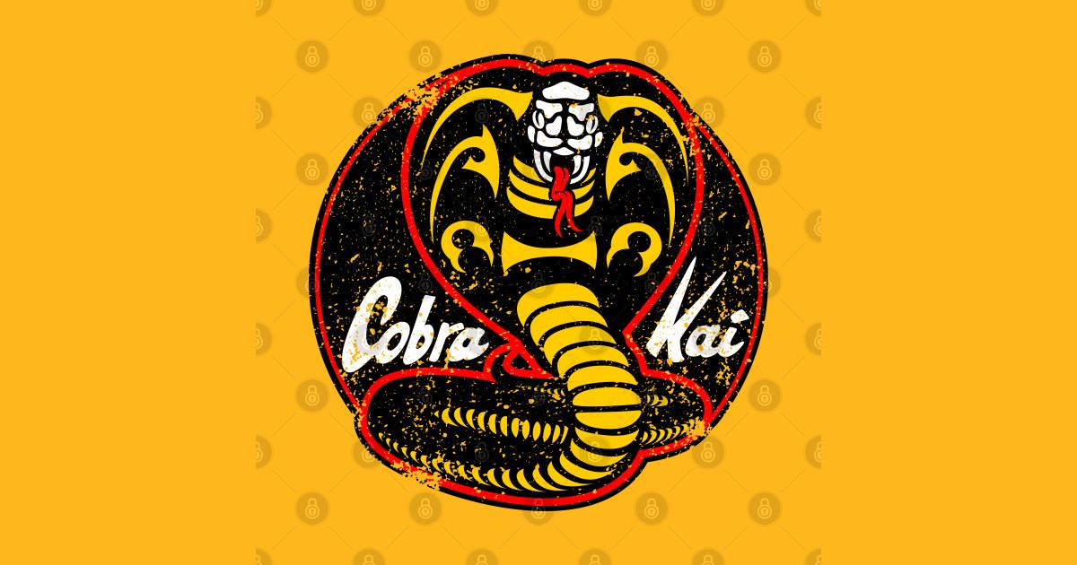Cobra Kai logo - distressed - Cobra Kai Logo - T-Shirt ...