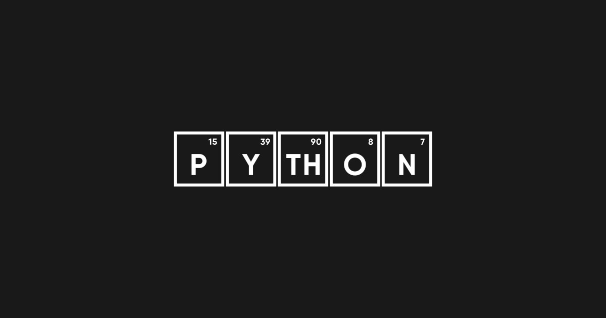 Python Periodic table for Programmers by mangobanana