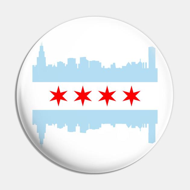 Chicago Flag Skyline