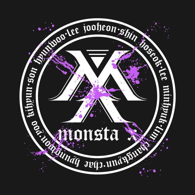 MONSTA X Beautiful World Tour Member Birth Name Splatter Logo
