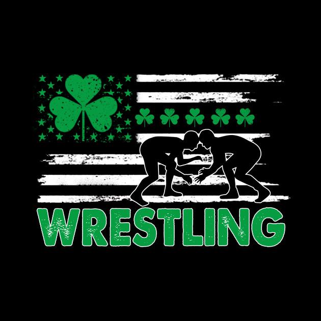 St Patrick's Day - Wrestling USA Flag