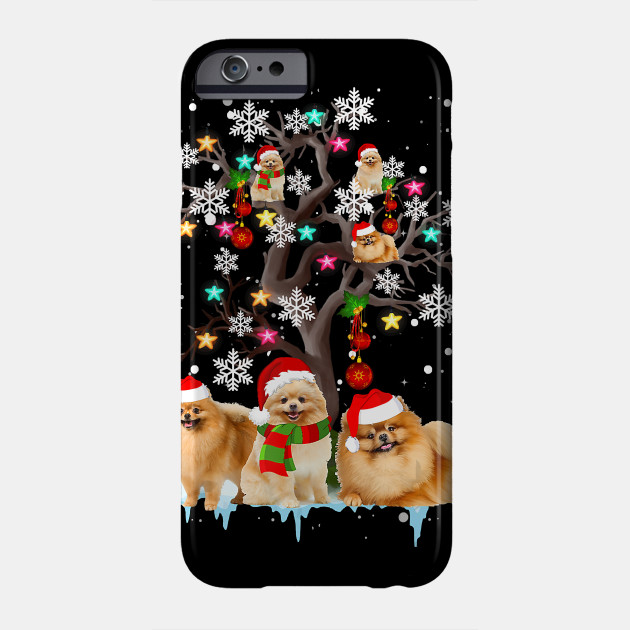 Funny Christmas Pomeranian Christmas Tree Ornament Christmas Gifts Phone Case