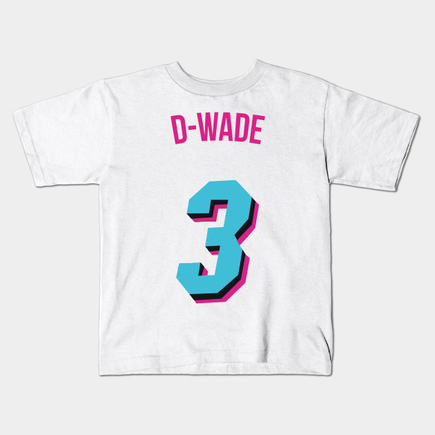 Dwyane Wade D Wade Nickname Jersey Miami Heat Nba Kids T Shirt Teepublic
