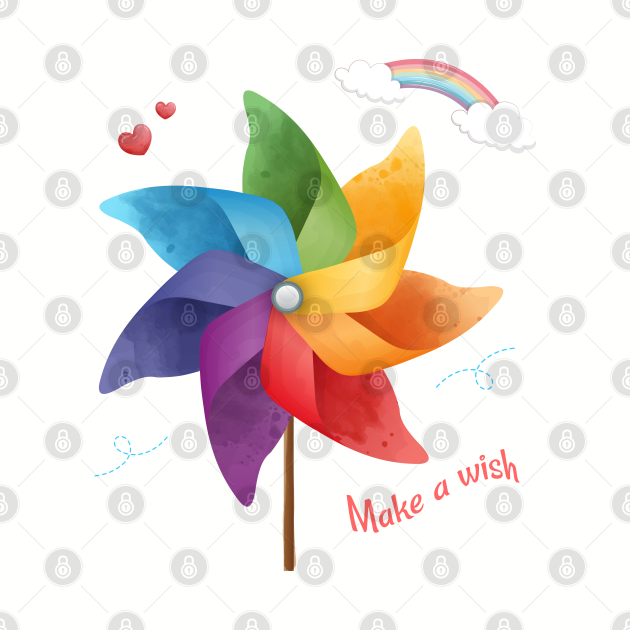 Origami windmill - make a wish