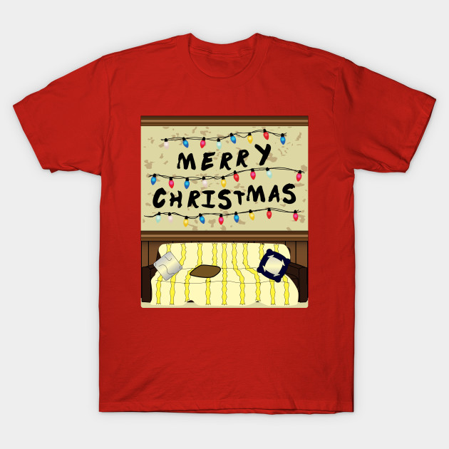 Christmas T-shirt Merry Christmas Things T shirt inspired by Stranger Things