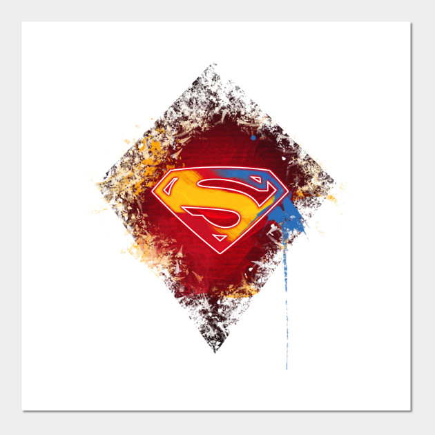 Superman Logo Digital Painting