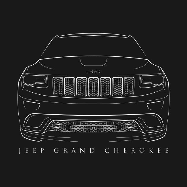 Jeep Grand Cherokee WK2 - front stencil, white