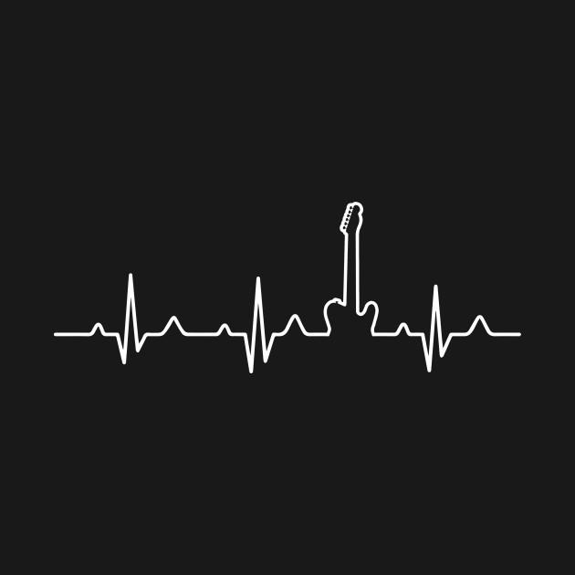 Guitar player heartbeat guitarplayer t shirt teepublic for Heartbeat design