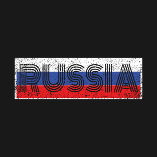Russia Flag Distressed Old Font Russian Country From Two Tone Hoodie Sweatshirt