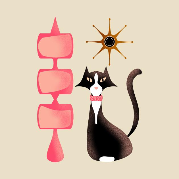 Retro Tuxedo Cat