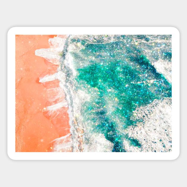 Shine Beach Aesthetic Shine Beach Sticker Teepublic