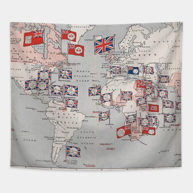 Vintage british empire world map 1910 world map tapestry 2340296 0 gumiabroncs Choice Image