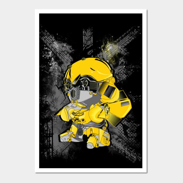 Bumblebee transformer - Racer - Wall Art | TeePublic