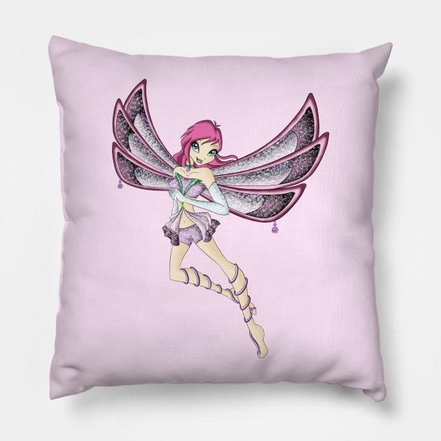 tecna enchantix winx club pillow teepublic