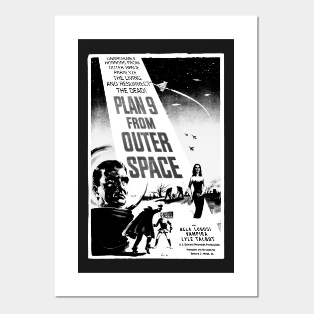 T-Shirt Black Plan 9 From Outer Space /'Poster/' NEW /& OFFICIAL!