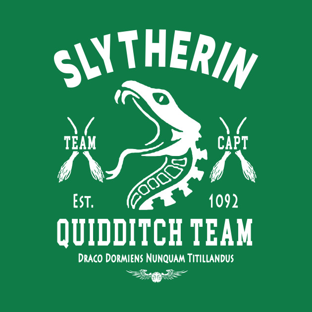Slytherin Quidditch Team Captain Harry Potter T Shirt