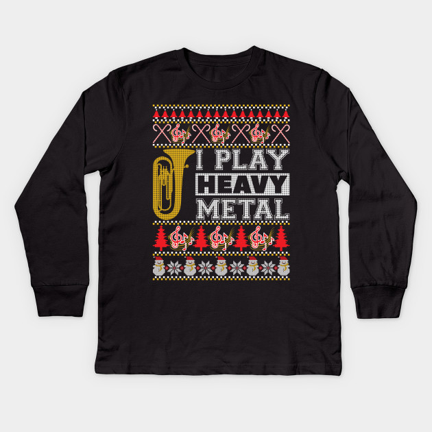 Tuba I Play Heavy Metal Ugly Christmas Sweater Birthday Kids