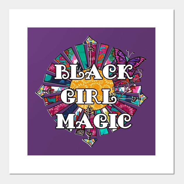Black Girl Magic printed fabric Fabric