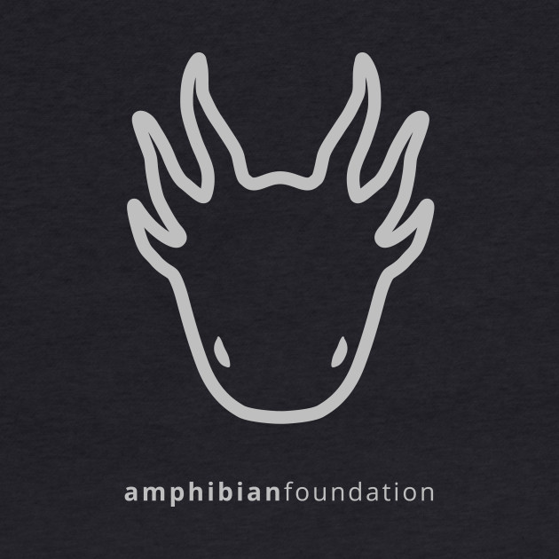 Light Grey | The Amphibian Foundation larval salamander logo