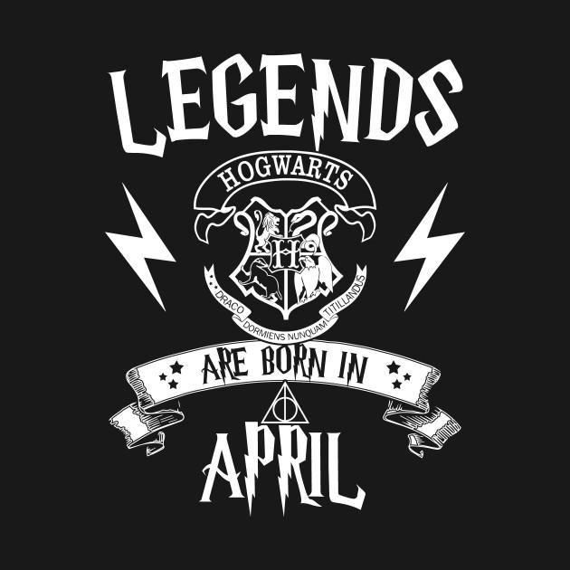 349aa564 Legend Are Born In April T Shirts - Birthday - Kids T-Shirt | TeePublic