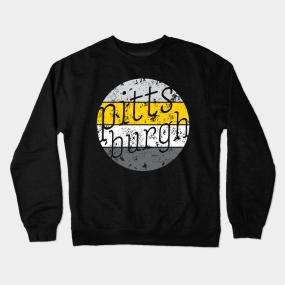 Pittsburgh Retro Fan Throwback Design Crewneck Sweatshirt 13bbfce2b