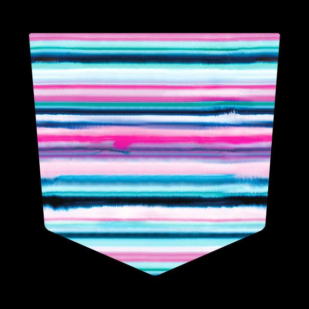 Pocket - Degrade Stripes Watercolor Pink