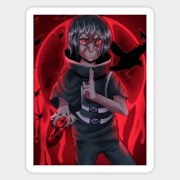 Itachi Uchiha Rage Mod Fanart Anime Art Magnet Teepublic Au
