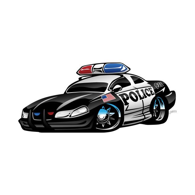 Police Muscle Car Cartoon Police Car Mug Teepublic
