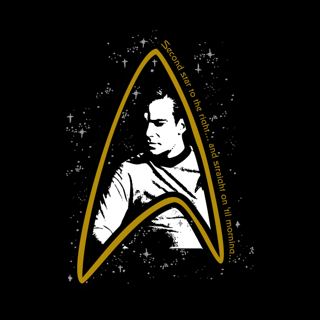 Star Trek TOS Kirk: 2nd Star to the Right Tee