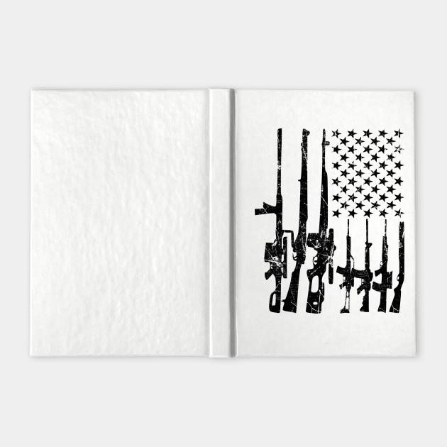 Distressed America Gun Flag Patriotic Army